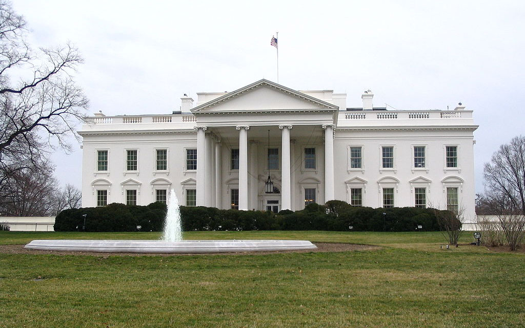 The White House, view from the front lawn