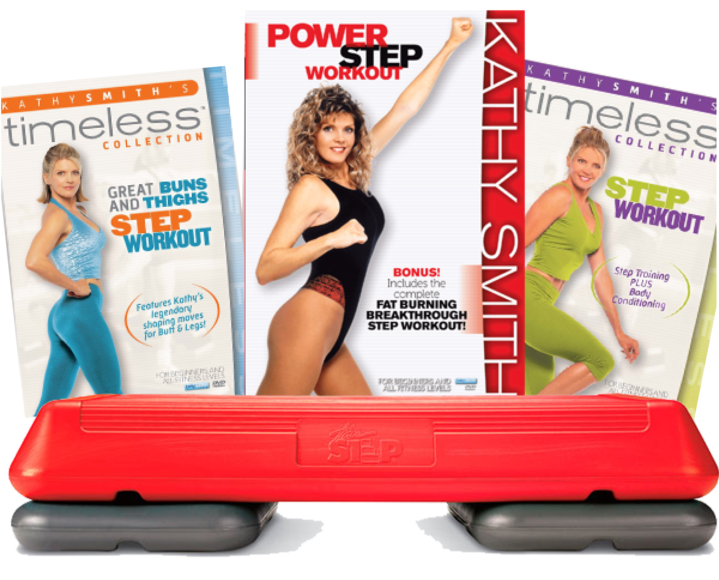 Step off the weight with my 4 step aerobics workouts!