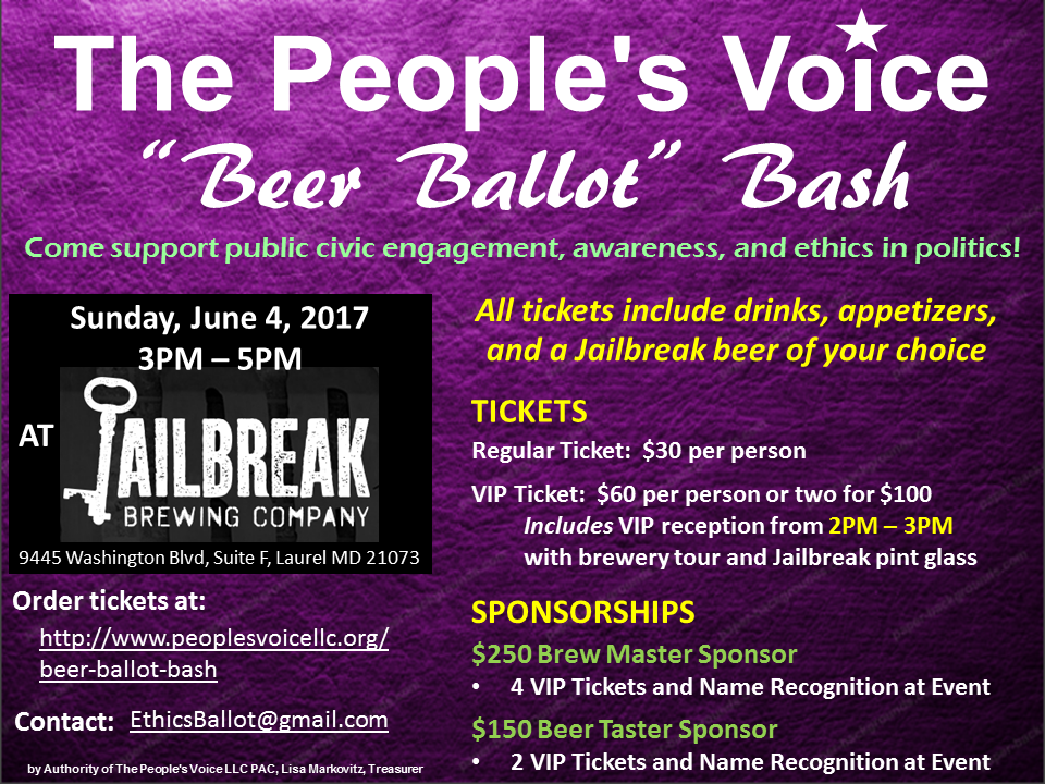 The People's Voice Beer Ballot Bash