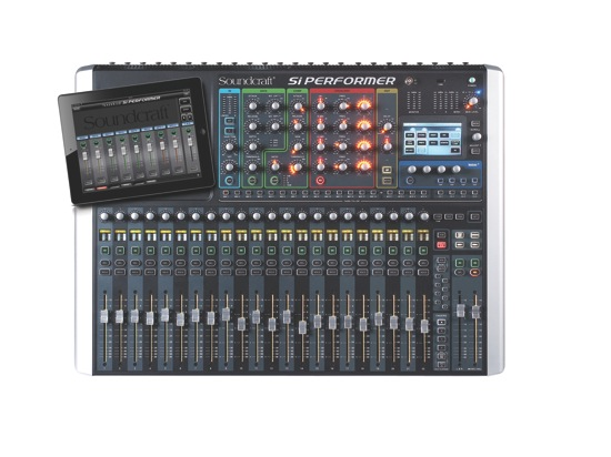 Soundcraft Si Performer 2 Overhead with ipad