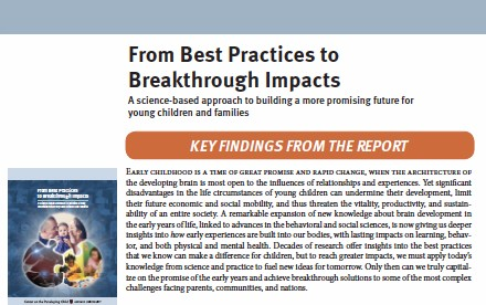 From Best Practices to Breakthrough Impacts: Key Findings