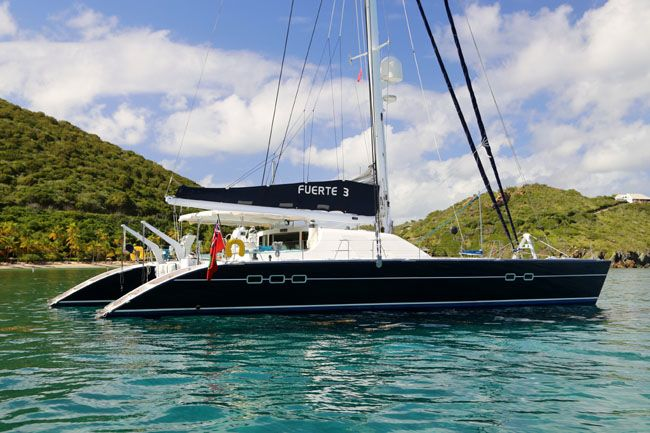 Fuerte 3 Catamaran available for BVI Crewed Yacht Charters