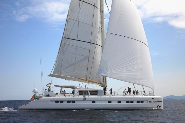 Catamaran Orion is available for charter in Antigua this winter