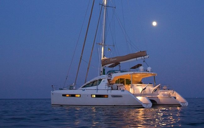 Catamaran Elysium available for BVI Crewed Yacht Charter