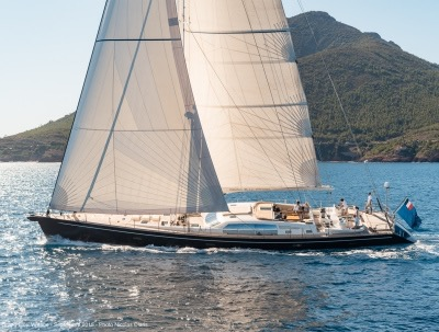 SY Grand Bleu Vintage CNB 95ft sailing yacht available for Mediterranean Yacht Charter