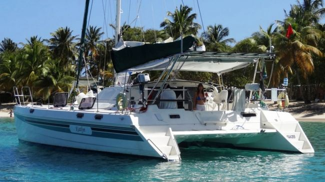 Katlyn Catamaran available for BVI Crewed Yacht Charters