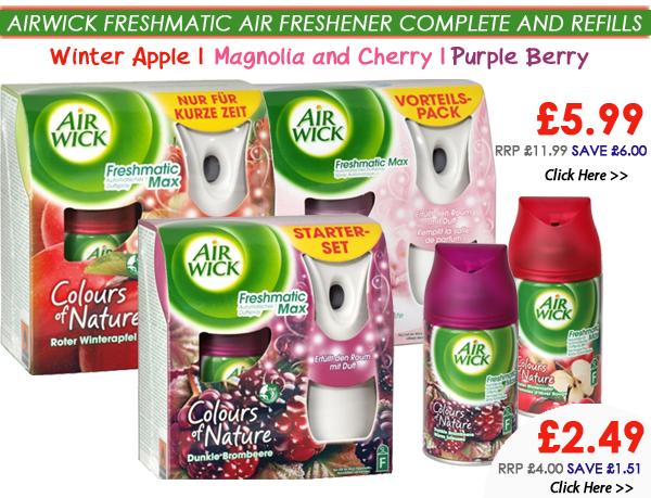 Airwick Freshmatic Air Freshener Complete & Refills