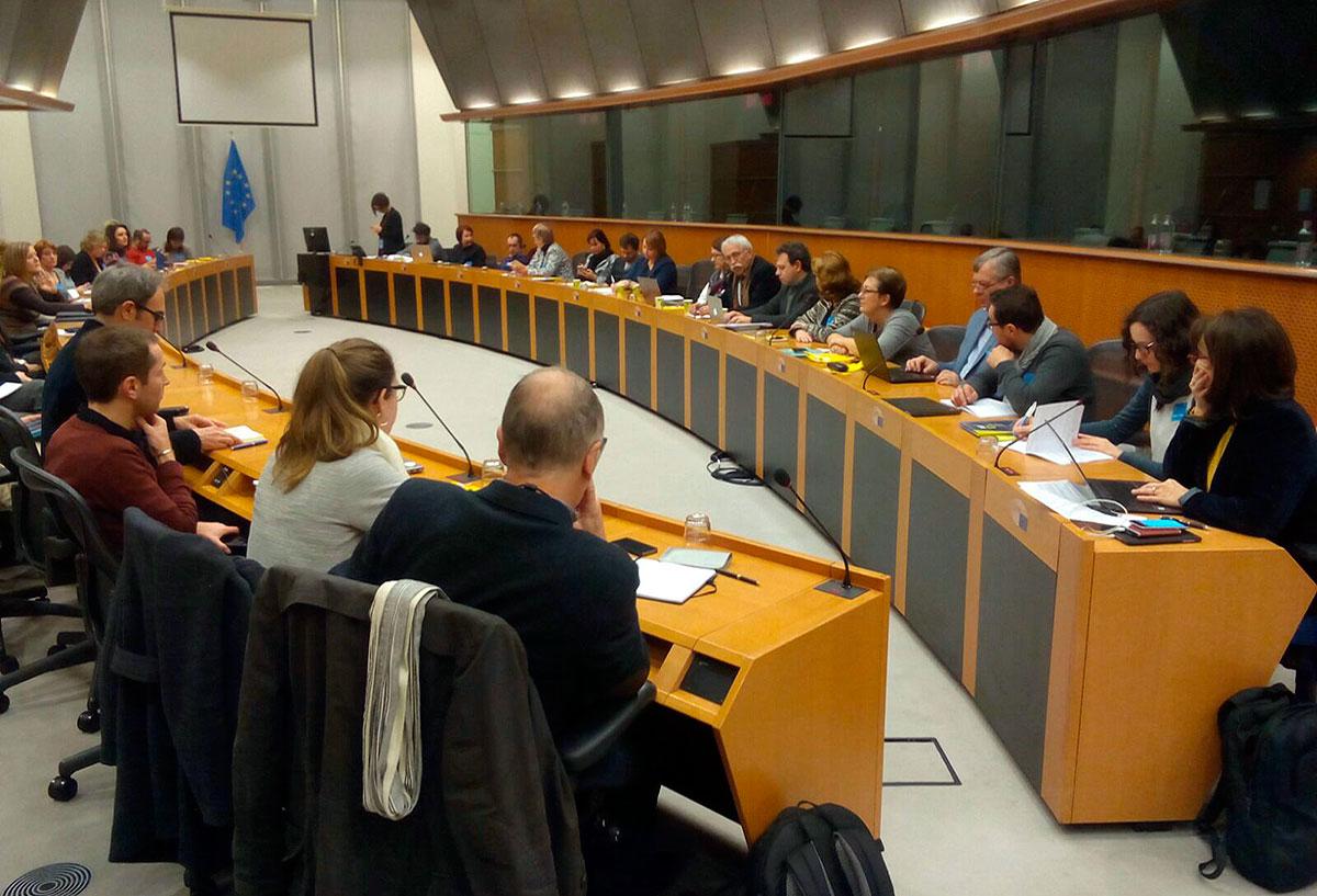 Sesión celebrada el 23 de enero de 2018 en la sede del Parlamento Europeo en Bruselas