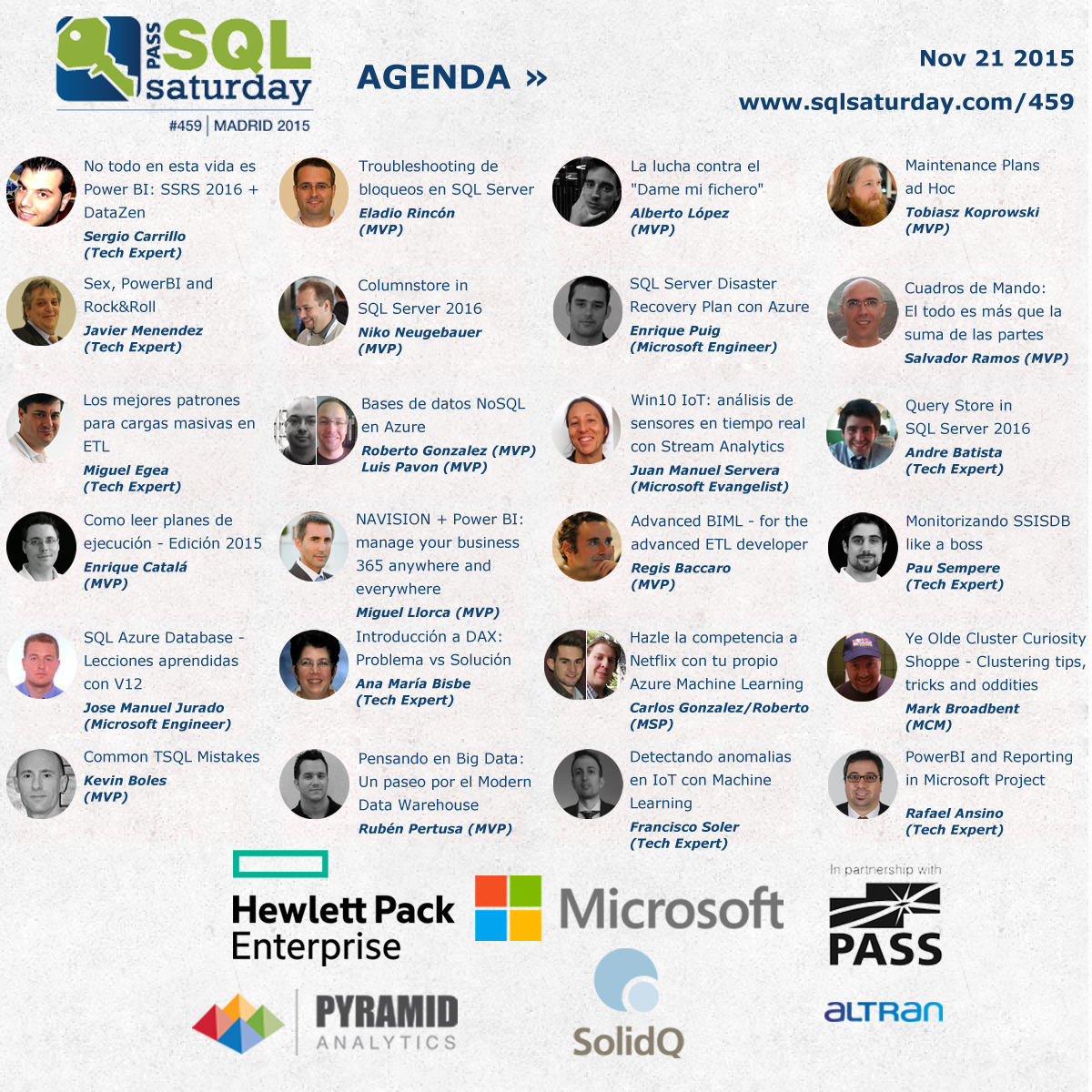 SQLSaturday Madrid lineup