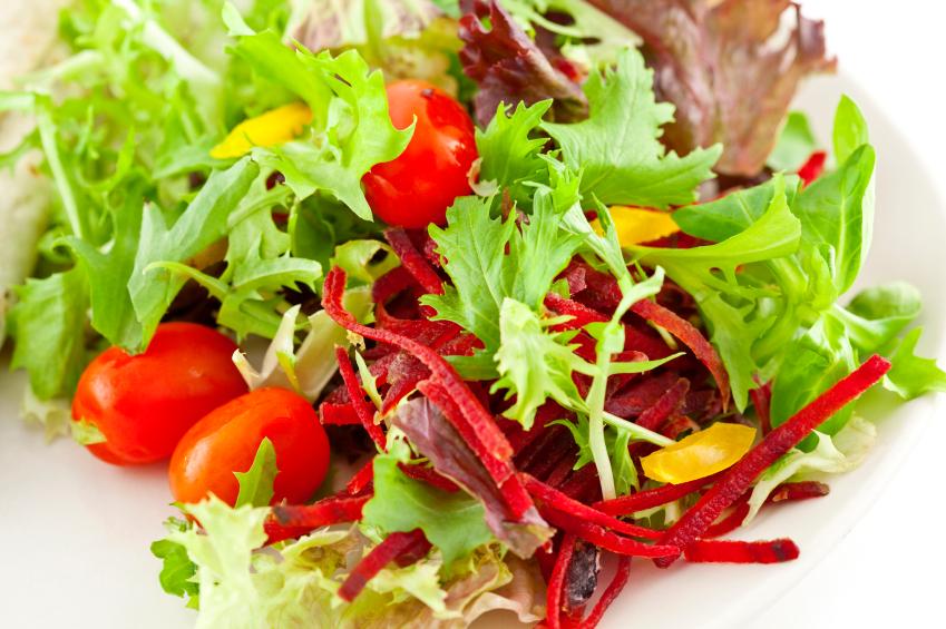 Image of a fresh looking garden salad