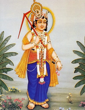 Image of Sri Baladev with a plow