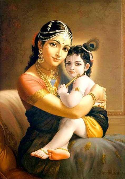Image of Krishna and Jasoda