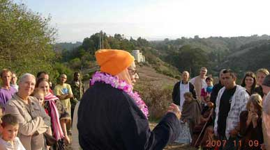 Srila Govinda Maharaj at Seva Ashram with devotees in 2007