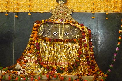 Image of Deitiy of Sri Sri Anu Giriraj in Govardhan temple