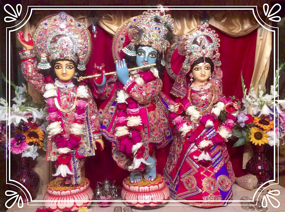Deity outfit offered on Janmastami 2016 at SCS Seva Ashram