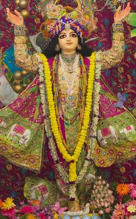 Image of Nityananda deity in Ekachakra Dham