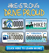 Hike Strong. Drive Proud. Show your support by purchasing an A.T. specialty license plate