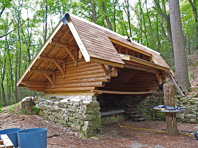 Rausch Gap Shelter - almost completed (photo by Brian Swisher)