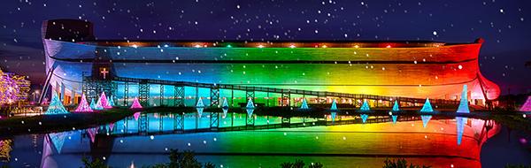 Ark Encounter with Christmas Lights