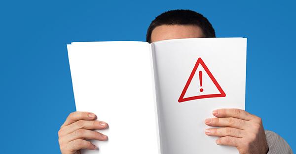 Man Holding Blank Magazine