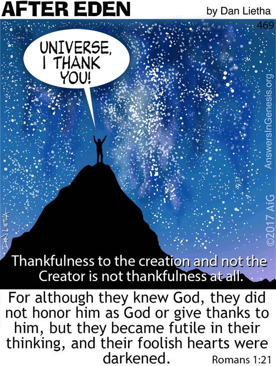 After Eden Cartoon: Futile Thankfulness