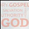 Word Cloud with Gospel, Salvation, Authority, God