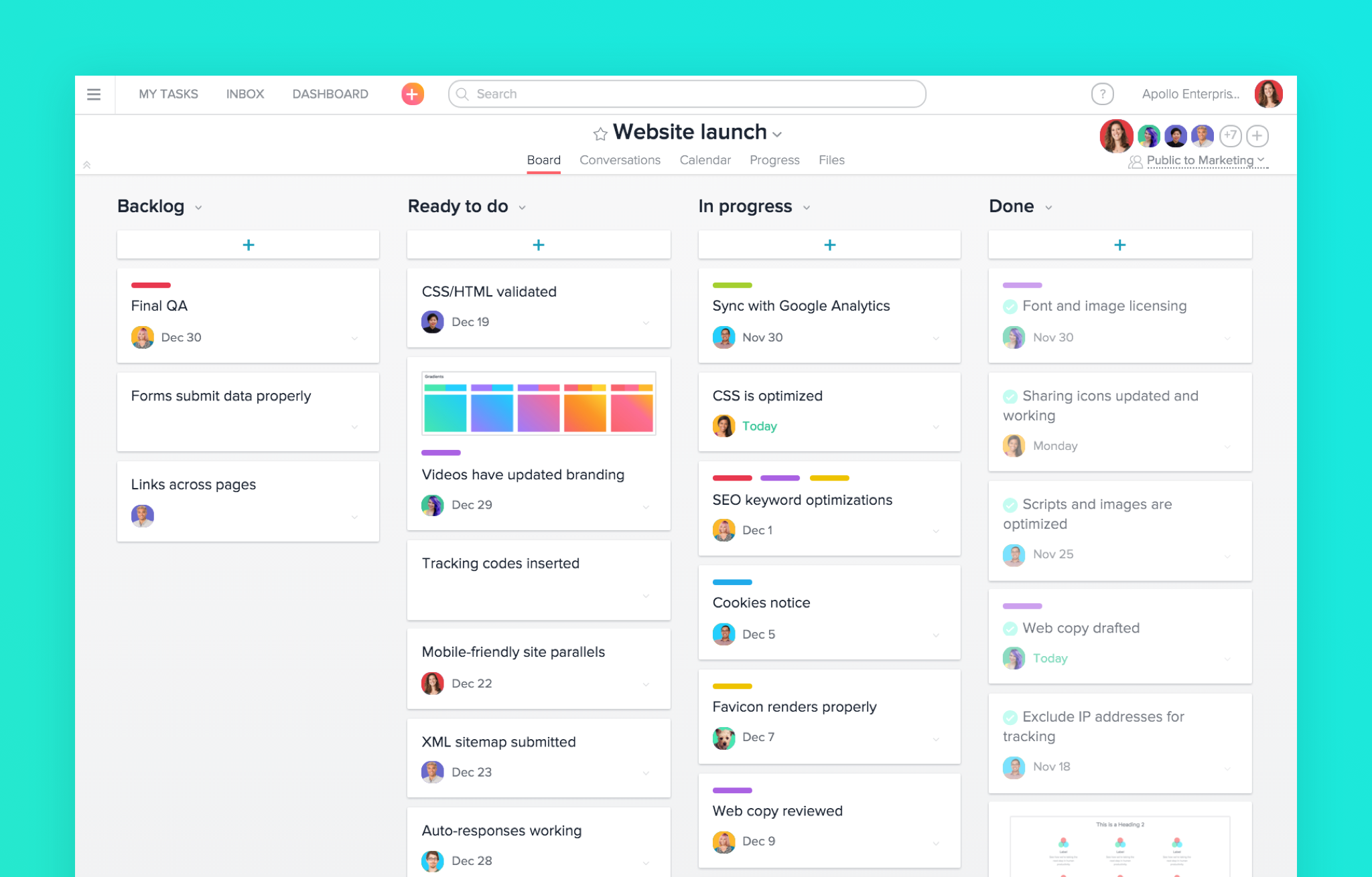 Asana Boards for Project Managment and Daily Tasks
