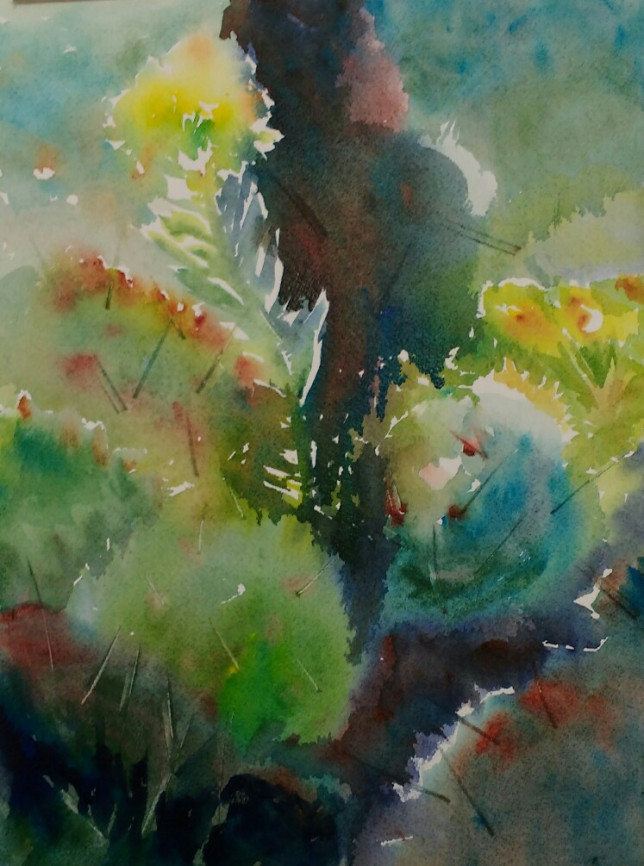 Spurge among the Prickly Pear -- Unframed. $95