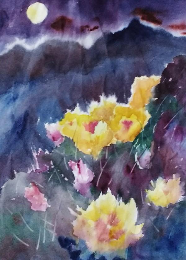 Cactus by Moonlight.  Unframed. $95