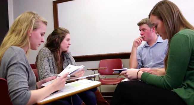 Students in a small-group discussion – acue.org