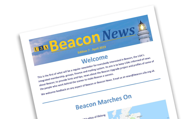 The front page of Beacon News