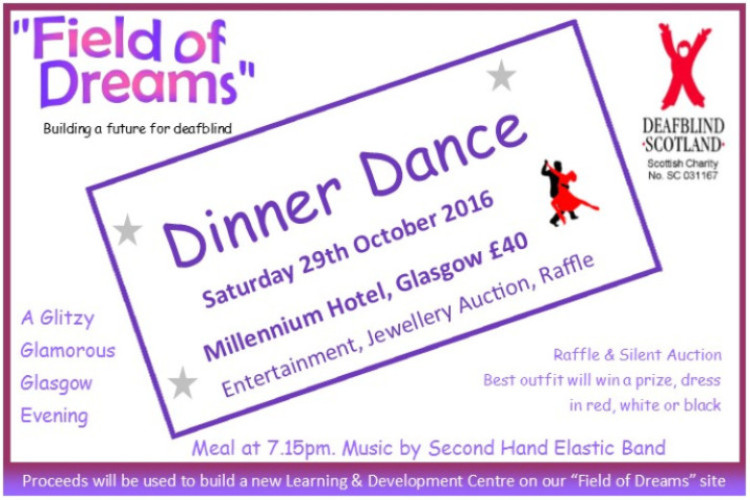 Dinner Dance 29 October 2016 Millenium Hotel Glasgow Tickets £40