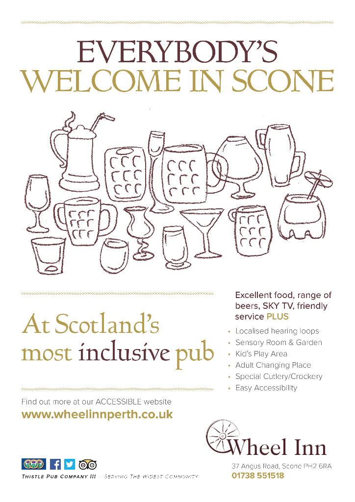 Scotland's most inclusive pub, Wheel Inn, Scone
