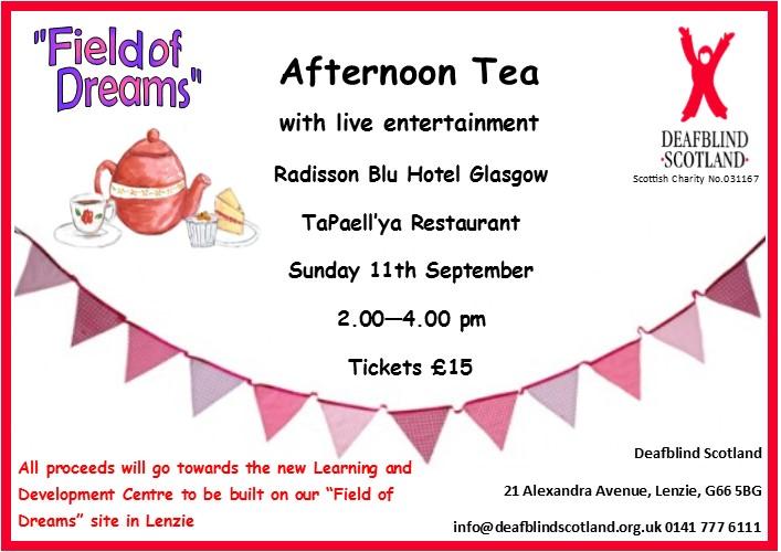 Afternoon Tea 11 Sept 2016 Radisson Blu Hotel 2pm tickets £15
