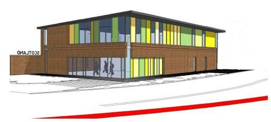drawing of the new centre