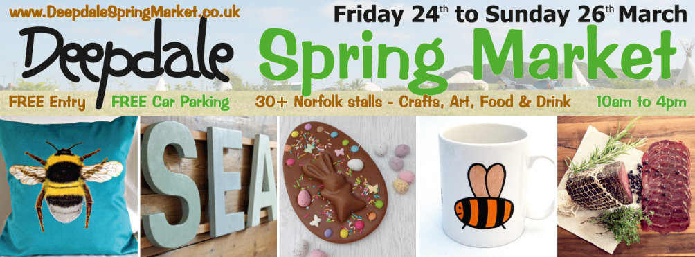 Deepdale Spring Market, Friday 24th to Sunday 26th March at Dalegate Market
