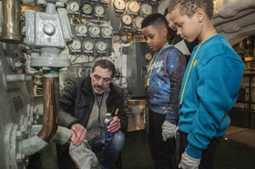 Conservation in action on HMS Belfast