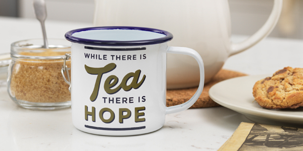 While There is Tea There is Hope Enamel Mug