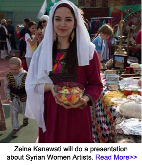 Zeina Kanawati will discuss Syrian Women Artists