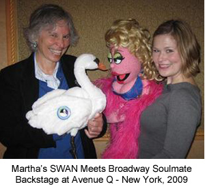 Martha & SWAN at Avenue Q
