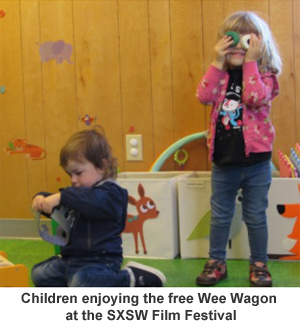 Children Playing in Wee Wagon
