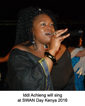 Iddi Achieng will sing at SWAN Day Kenya