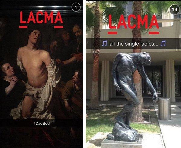 LACMA Snapchat