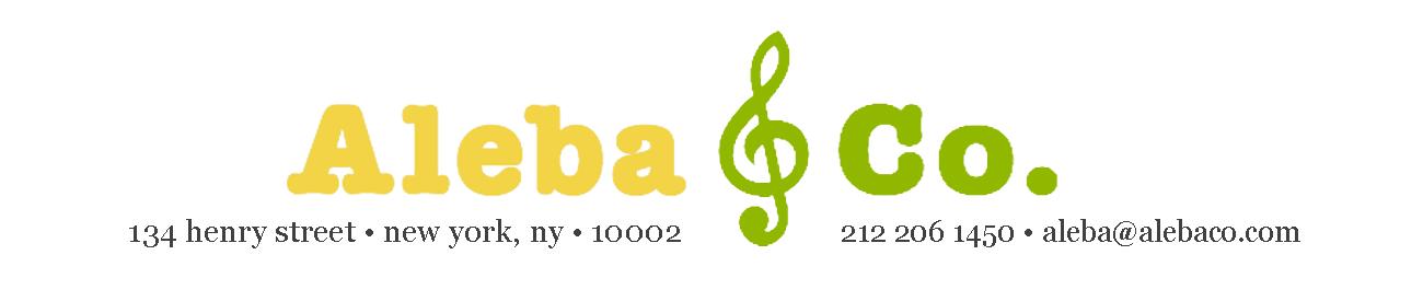 Aleba & Co. | 134 henry street | New York, NY | 10002 | 212-206-1450 | aleba@alebaco.com