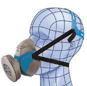 Demi-masque de protection respiratoire