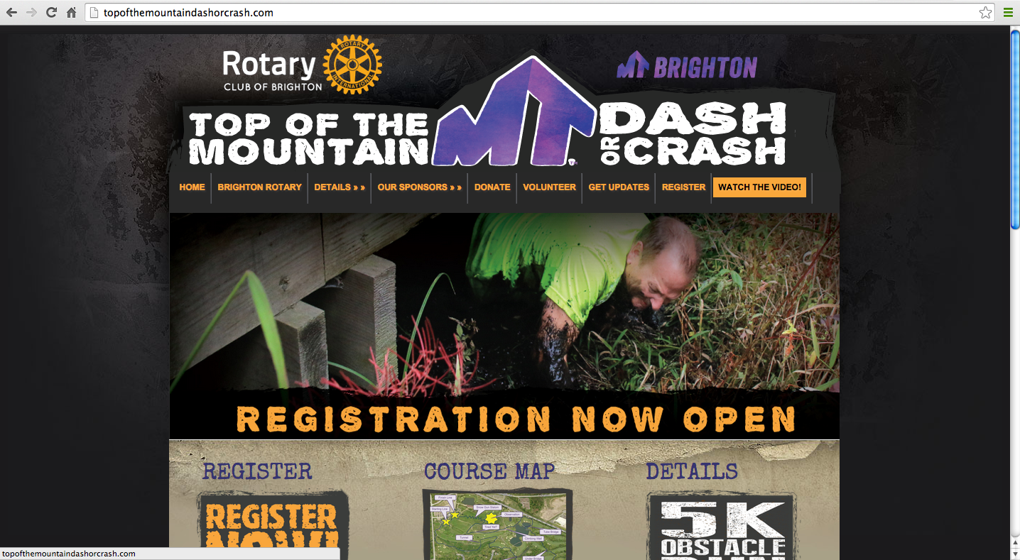 Rotary Club of Brighton's Top of the Mountain Dash or Crash at Mt. Brighton