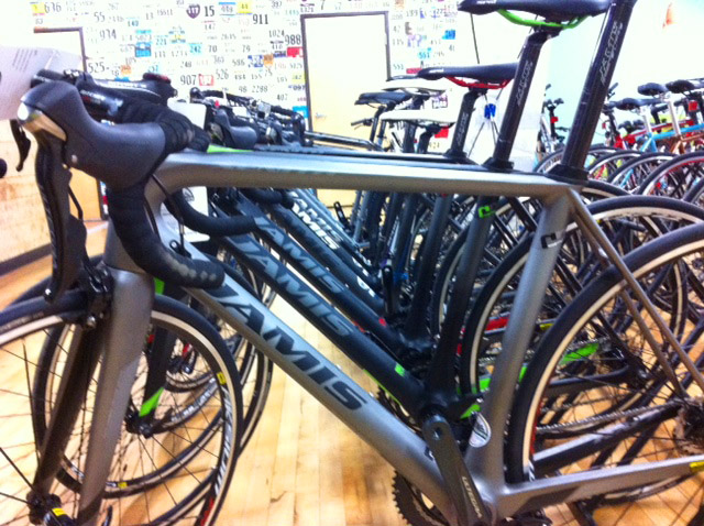 Carbon road bikes at Hometown Bicycles
