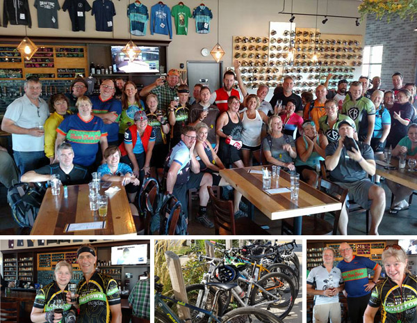 Team Hometown Bicycles represented by the Steve and Jean Steinberg at the MCMBA Sponsor Brewery Appreciation Ride