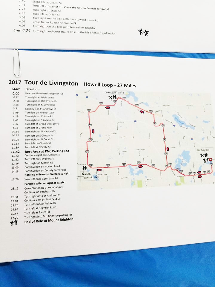 Tour de Livingston 2017 route maps