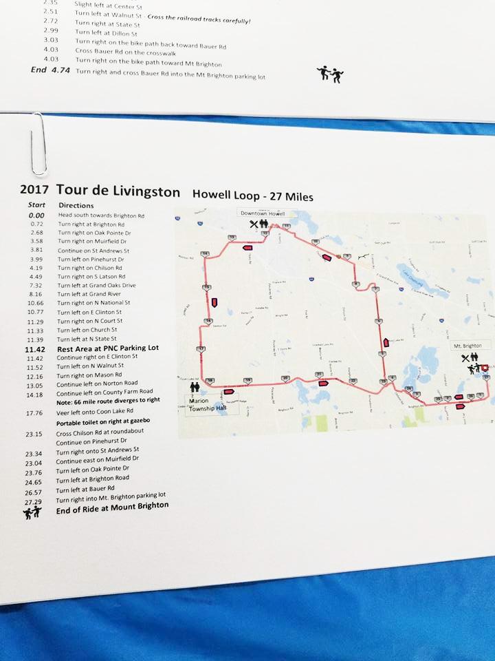 Tour de Livingston 2017 route maps